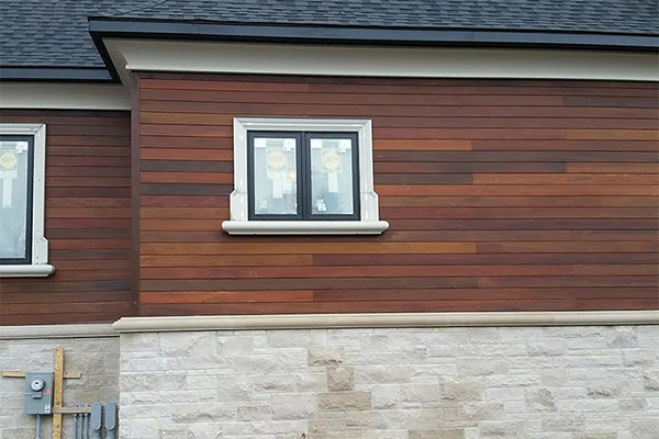 Exterior Wood Decking And Cladding In Delhi India Red
