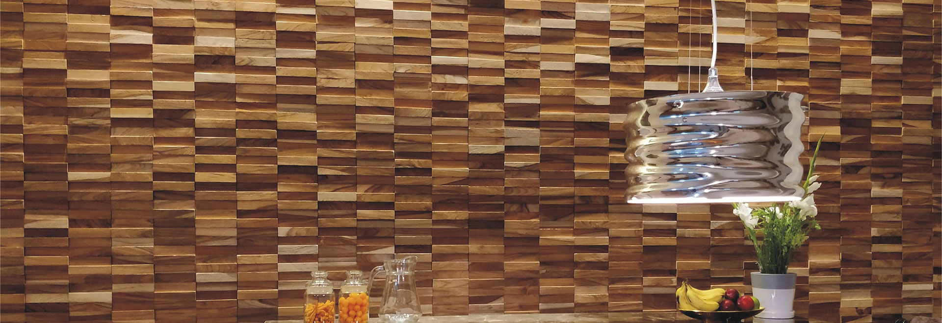 Teak Wood Wall Paneling